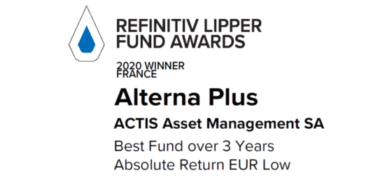 6ème !! Lipper Fund Award pour ALTERNA PLUS